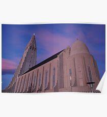 hallgrimskirkja, reykjavik, iceland Poster
