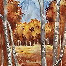 Watercolor fall landscape by DanielaFurini
