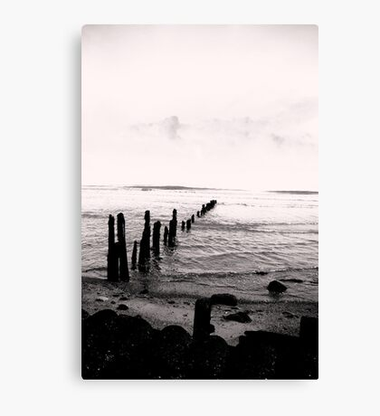 Sea Defence - Sandsend Canvas Print