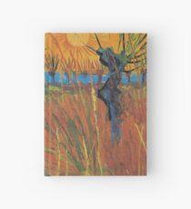 Vintage Vincent Van Gogh Willows at Sunset 1888 Hardcover Journal