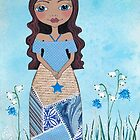 Wish Whimsical Girl In The Wild Flowers by Lisafrancesjudd
