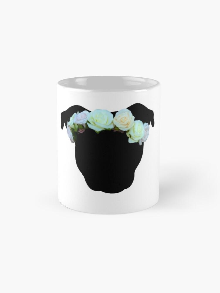 Alternate view of Flower Crown Pittie Mug