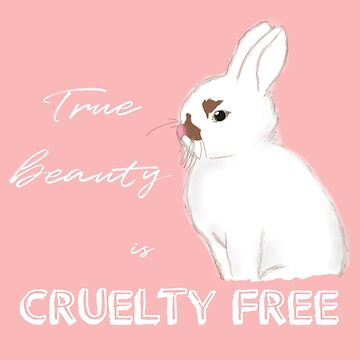 Cruelty-free Bunny (Pastel Pink) by artmoonist
