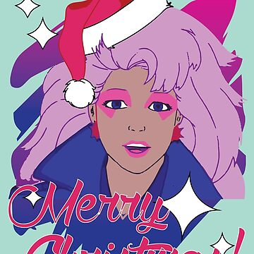 Jem and the Holograms 80s 1980s Cartoon Merry Christmas Greeting Ugly Sweater by neonfuture