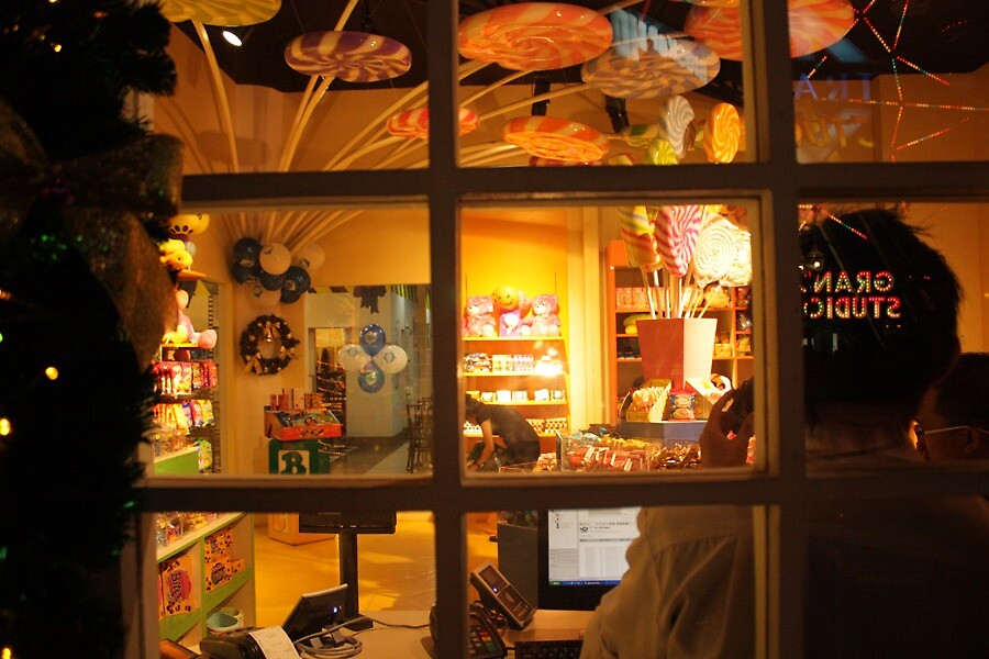 candy store at christmas night by Putri Astika