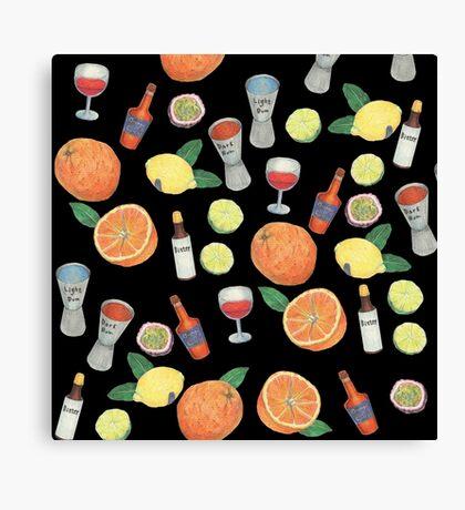 Partytime_black Canvas Print