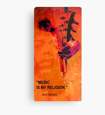 music is my religion Metal Print