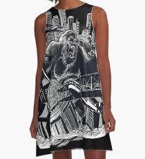 Wild Animal - Gorilla - King Kong A-Line Dress
