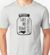 Country Roads Take Me Home NC T-Shirt