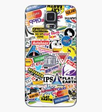 Flat Earth Stickers  Case/Skin for Samsung Galaxy