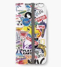 Flat Earth Stickers  iPhone Wallet/Case/Skin