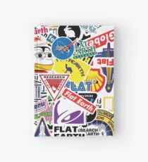 Flat Earth Stickers  Hardcover Journal