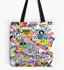 Flat Earth Stickers  Tote Bag