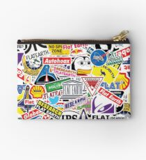 Flat Earth Stickers  Studio Pouch