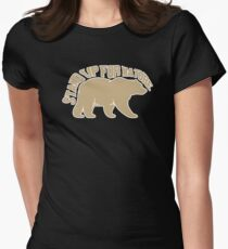 conservation bear grizzly nature lover Women's Fitted T-Shirt