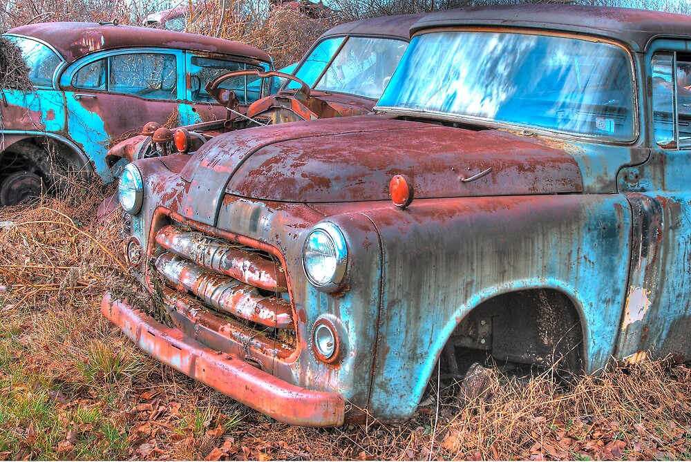 TWO BLUE CARS by Diane Peresie