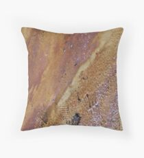 Abstract by M.Nature, Footprints by Man Throw Pillow