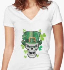 St. Patrick's Day Women's Fitted V-Neck T-Shirt
