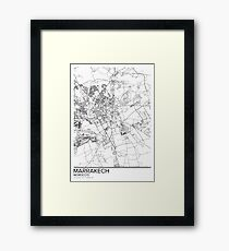 Marrakech map poster print wall art, Morocco gift printable, Home and Nursery, Modern map decor for office, Map Art, Map Gifts Framed Print
