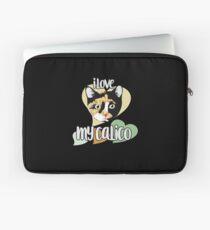 I love my calico cat Laptop Sleeve