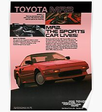 TOYOTA MR2 AW11 Poster