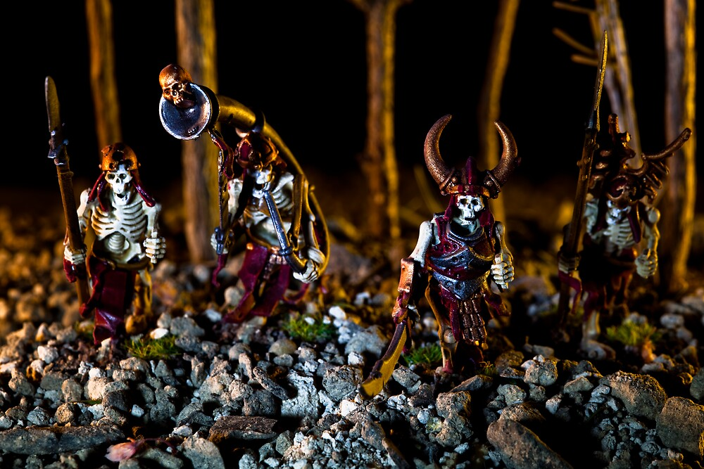 Skeletons Patrolling The Cursed Forest by Marc Garrido Clotet