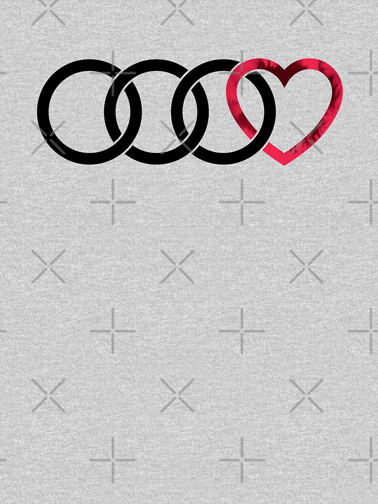 3 Audi Rings + Heart (textured heart) by Qwerty-Designs
