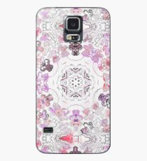 Pink Floral Ties and Circles Design Offering by Green Bee Mee Case/Skin for Samsung Galaxy