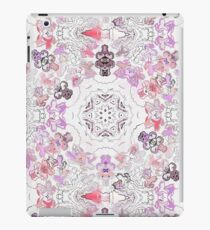 Pink Floral Ties and Circles Design Offering by Green Bee Mee iPad Case/Skin