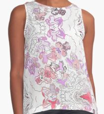 Pink Floral Ties and Circles Design Offering by Green Bee Mee Contrast Tank
