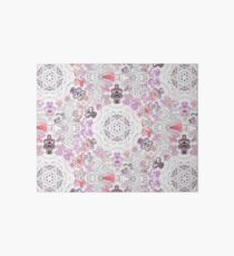 Pink Floral Ties and Circles Design Offering by Green Bee Mee Art Board