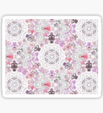 Pink Floral Ties and Circles Design Offering by Green Bee Mee Sticker