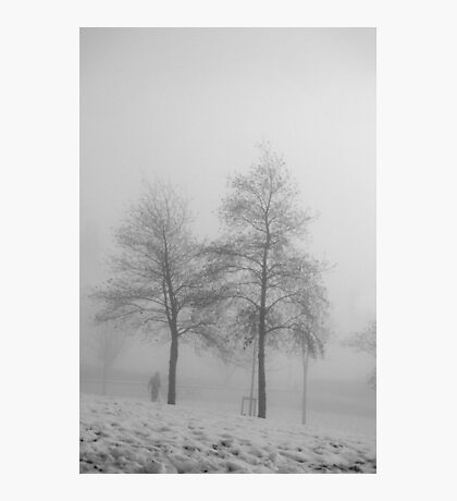 The man in the fog Photographic Print