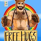 ADAM LIKES HUGS - GAY PRIDE by bobobear