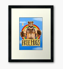 ADAM LIKES HUGS - GAY PRIDE Framed Print