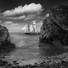 Sailing Passed the Cove by Geoff Carpenter