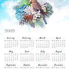 CALENDAR 2019 Floral Winter Magic by Donika Nikova