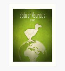 Dodo of Mauritius - extinct animals Art Print