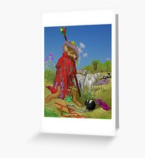 Another Wolf in disguise. Greeting Card