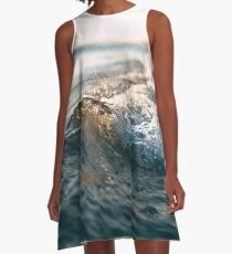 Crisp Waves A-Line Dress