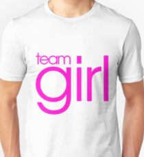 Team Girl Gender Reveal Announcement Party Unisex T-Shirt