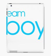 Team Boy Baby Gender Reveal Party Announcement iPad Case/Skin