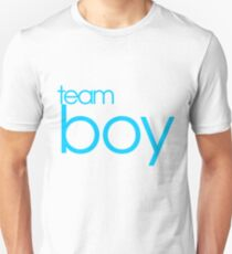 Team Boy Baby Gender Reveal Party Announcement Unisex T-Shirt
