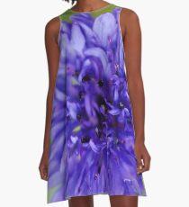 Cornflower Blue Bachelor Button Flower A-Line Dress
