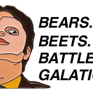 Bears. Beets. Battlestar. Galatica. by burninice