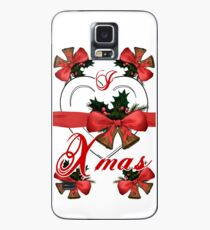 i love xmas christmas bells arrangement with red ribbon Case/Skin for Samsung Galaxy