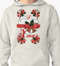 i love xmas christmas bells arrangement with red ribbon Pullover Hoodie