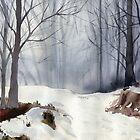 Fog in the winter forest by Irina Reznikova