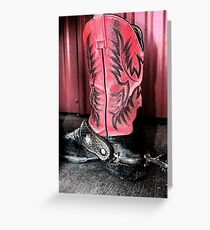 Lonely Cowboy Boot Greeting Card