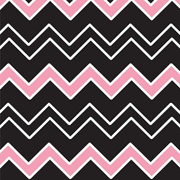 Black, White and Pink Geometric Pattern by PerfectDisguise